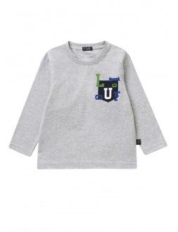 T-shirt with Il Gufo print on the pocket.