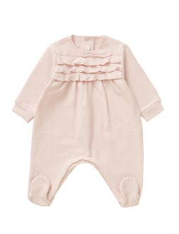 Playsuit with ruffles - powder pink