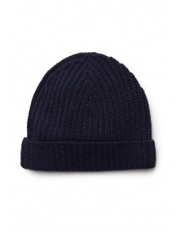 Blue cashmere hat
