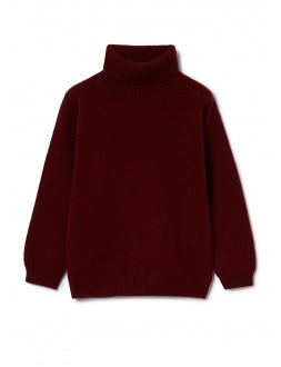 Burgundy superfine wool turtleneck