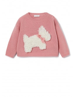 Sweater with comfit dog