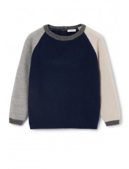 Blue and grey wool sweater