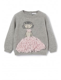 Grey sweater with princess