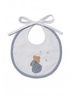 Bib with light blue details