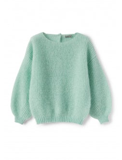 Teal mohair wool sweater