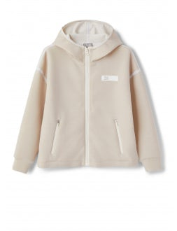 beige coupled cotton sweatshirt