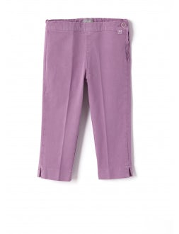 green pink ankle Capri trousers