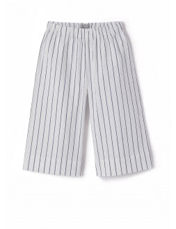 striped culotte trousers with elastic waist