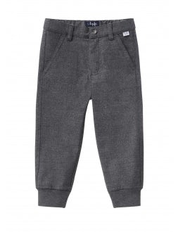 Grey trousers with cuffs