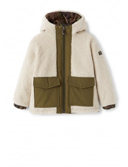 Double-face natural teddy jacket