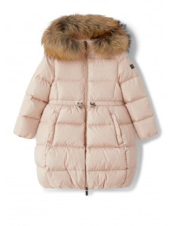 Pink coat with egg bottom