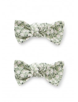 Cotton hair clips with small flowers print