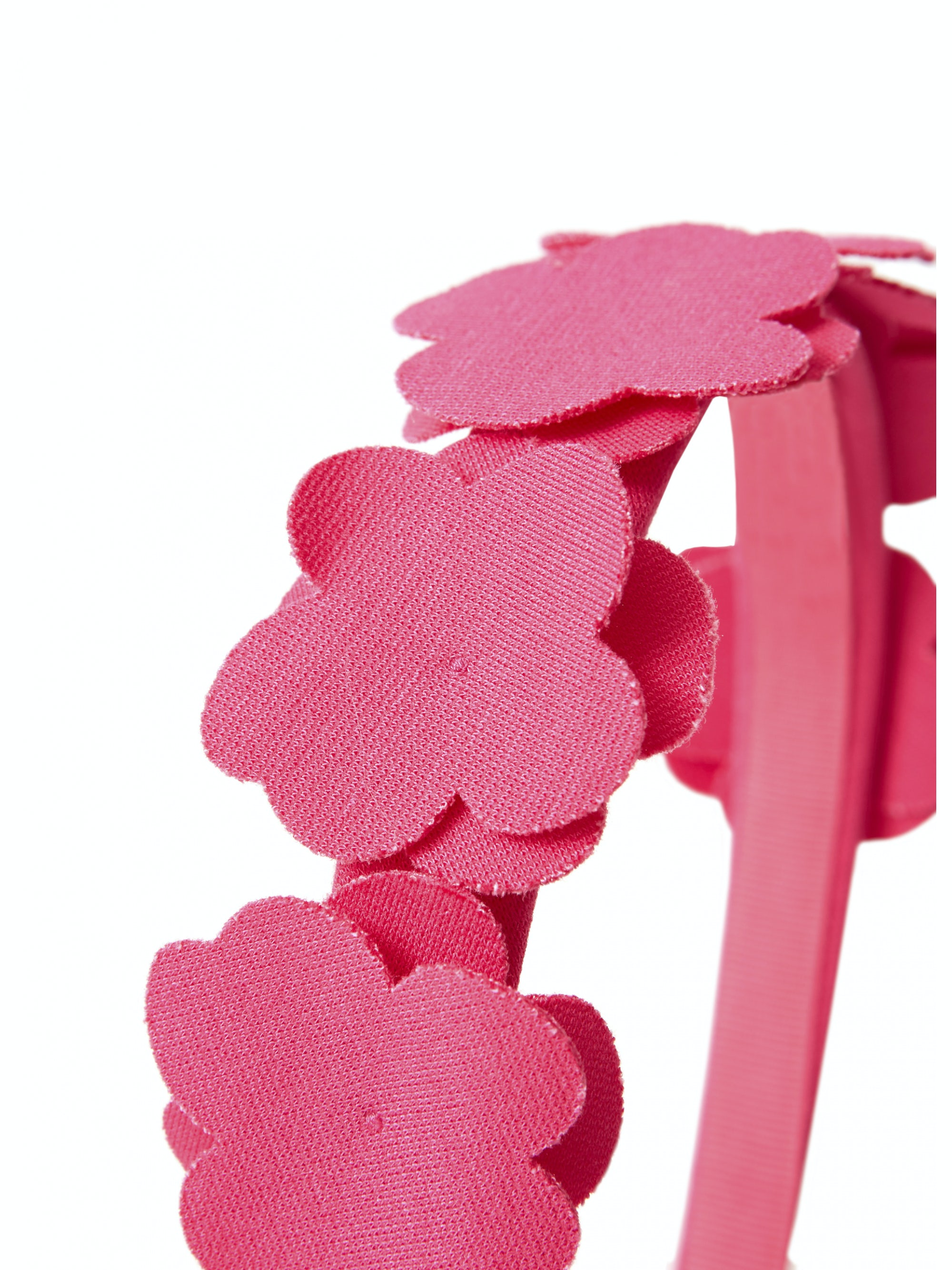Hairband With Flowers Shocking Pink Girl 2 14 Il Gufo