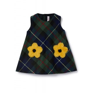 Tartan pinafore with flowers