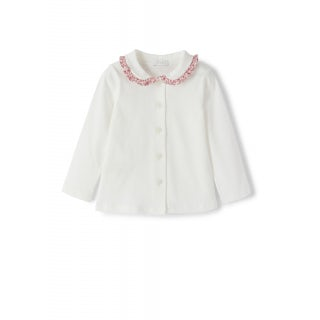 Shirt with floral collar