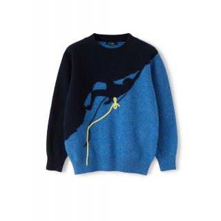 Colour-block sweater with climber