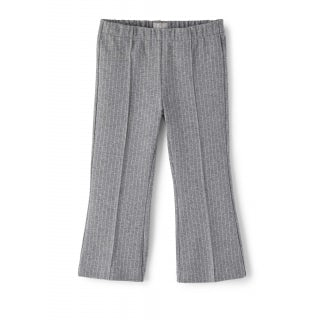 Pinstripe cropped flare trousers