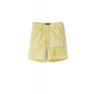 yellow cargo Bermuda shorts