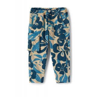 cargo trousers with floral pattern
