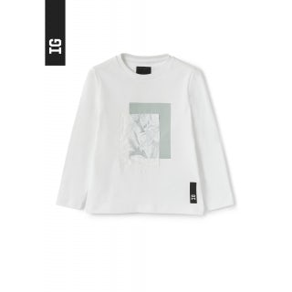 T-shirt with water and nylon print